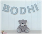 Personalized felt name banner wall art nursery decor - light gray - nursery decor - MADE TO ORDER