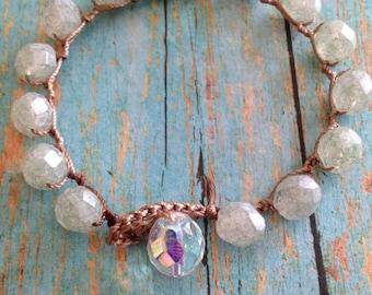 Sea-foam green bracelet Boho wrap