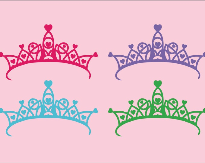 Crown Decor - Small Decal - Princess Wall Decal - Childrens Wall Decal -  Crown Wall Art - Wall Decal