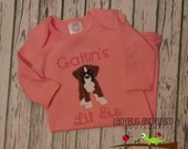 Infant Girl Pink Boxer Puppy Gown 0-3M