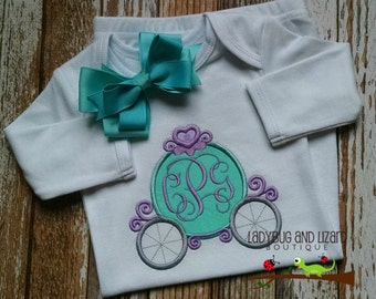 Princess Carriage with Monogram Infant Gown