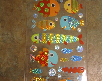 Sticko colorful fish stickers