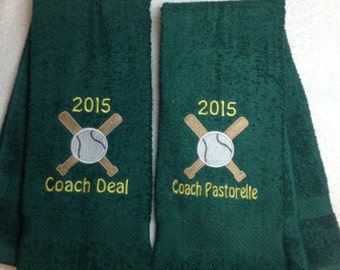 Baseball, Personalized baseball or softball towel, fast turn around, ball gift,