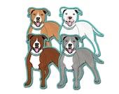 Pit Bull Dog Pitbull Car Window Sticker, Vinyl iPhone Decal waterproof durable indoor/outdoor
