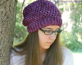 Crochet PATTERNS - Slouchy Hat Crochet Pattern - Crochet Patterns Hat - Crochet Pattern Baby - Baby, Toddler, Child, Adult Sizes - PDF 378