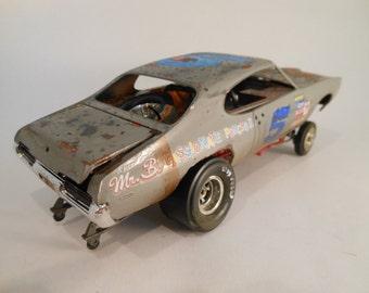 Scale Model Pontiac GTO Car by Classicwrecks in Grey