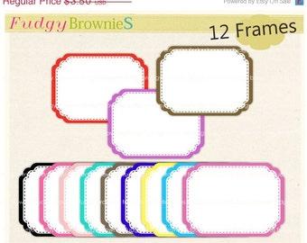 ON SALE Digital frames, Frames clip art, white background frame, digital scrapbooking frames.A-58, Instant Download