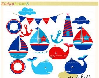ON SALE Sail boat clip art , Nautical fun , for invites,scrapbooking ,sail boat,sailing clip art, whale clip art , INSTANT Download