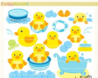ON SALE Duck clip art , Duck bath toy, for invites,scrapbooking ,baby shower,bubble clip art,cute yellow duck clip art , INSTANT Download