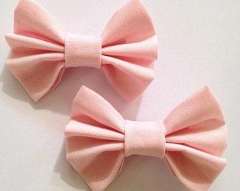Pink Mini Hair Bows 2 Pack Small Hair Bows