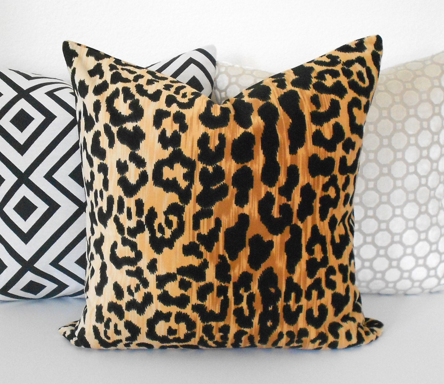 Leopard Velvet Decorative Pillow Cover Animal Print Pillow