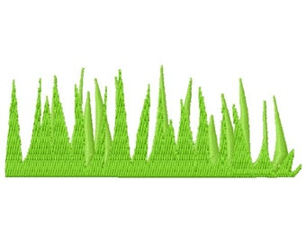Grass Machine Embroidery Design - Instant Download