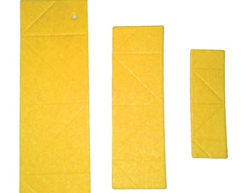 3D Origami  Paper  Yellow