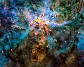 Mystic Mountain is located in the Carina Nebula - Available Sizes (12x12) (16x16) (20x20) (24x24) (30x30) (36x36)