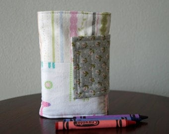 Art Wallet - Girl Crayon Holder - Giraffes & Stripes - Birthday Gift - Ready to Ship