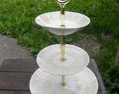 great shape clean vintage 3 tier ROYAL CHINA SOLAR tidbit snack serving tray