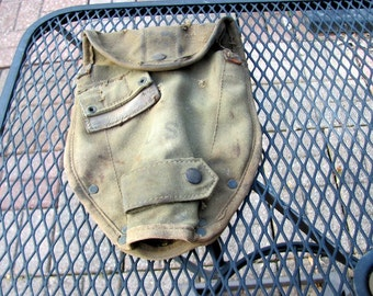 Entrenching Tool Canvas Cover From Vietnam Era
