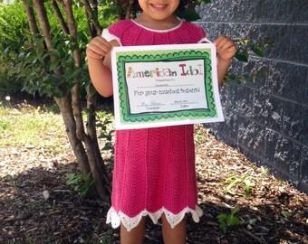 Crochet Pattern PDF - Dress- Elizabeth Gown - Toddler Sizes