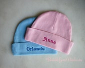 Newborn Cap Baby Hat Custom Embroidery Personalized Name for Infants New Baby Skull Cap Infant Hat