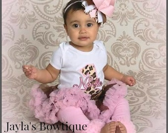 Cheetah & Pink Birthday Onesie, T-Shirt or Outfit ~ 1st Birthday 2nd Birthday... Smash Cake Outfit