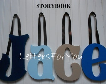 "SALE :) Wall Letters - Painted Wood - Storybook - plus other Fonts - Gifts and Decor for Nursery, Home, Playrooms, Dorms - 10"" Size"