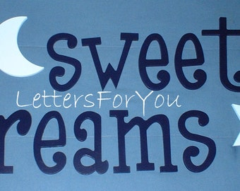"""SALE :) Wall Letters - Painted Wood - Thin-Whimsical - Gifts and Decor for Nursery, Home, Playrooms, Dorms - 10"""" Size"""