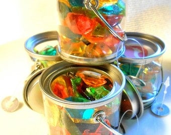 Bulk CANDY GEM FAVORS Buckets, All Colors and Party Themes, Sugar Jewels,Party Favors, 12