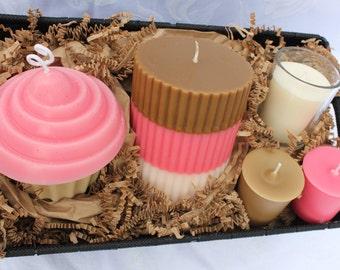Gift Basket of Neapolitan Candles - Retro Ice Cream