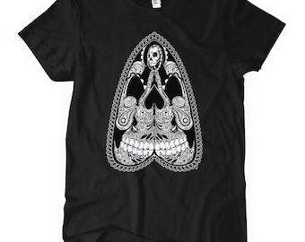 Women's Our Lady Tee - Ladies' Saint Death T-shirt - S M L XL 2x - 4 Colors