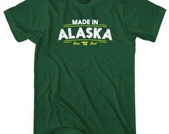 Made in Alaska V2 T-shirt - Men and Unisex - XS S M L XL 2x 3x 4x - Alaska Shirt - 4 Colors