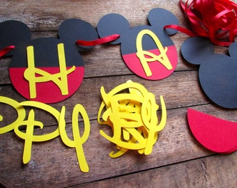DIY Birthday Banner Mickey Mouse inspired Birthday banner