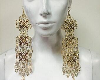 Goddess chandelier earrings