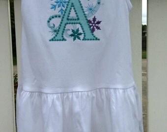 Ice Princess Monogrammed dress,  Frozen