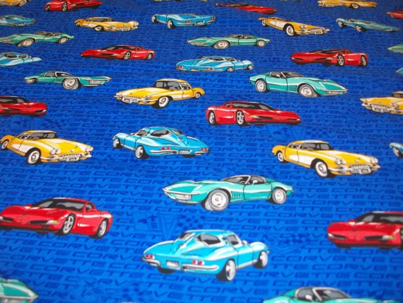 Chevrolet Corvette Fabric 4 2 3 Yards By Kobbyshobbies On Etsy