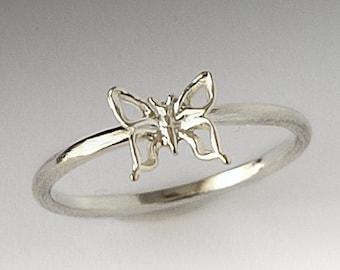 Cute Sterling Silver Butterfly Ring, Butterfly Ring Silver, Silver Ring, Butterfly Ring, Gift for Her