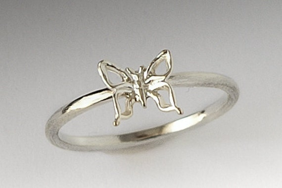 Cute  Silver Butterfly Ring