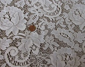 Lace Fabric, Lovely cream lace window panels, DIY wedding pillow, applique supplies, sewing supplies, craft supplies, lacey fabric, 6A