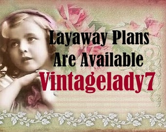 LAYAWAY PLAN - Simple And Affordable Layaway Plans (30,60 Days) By Vintagelady7