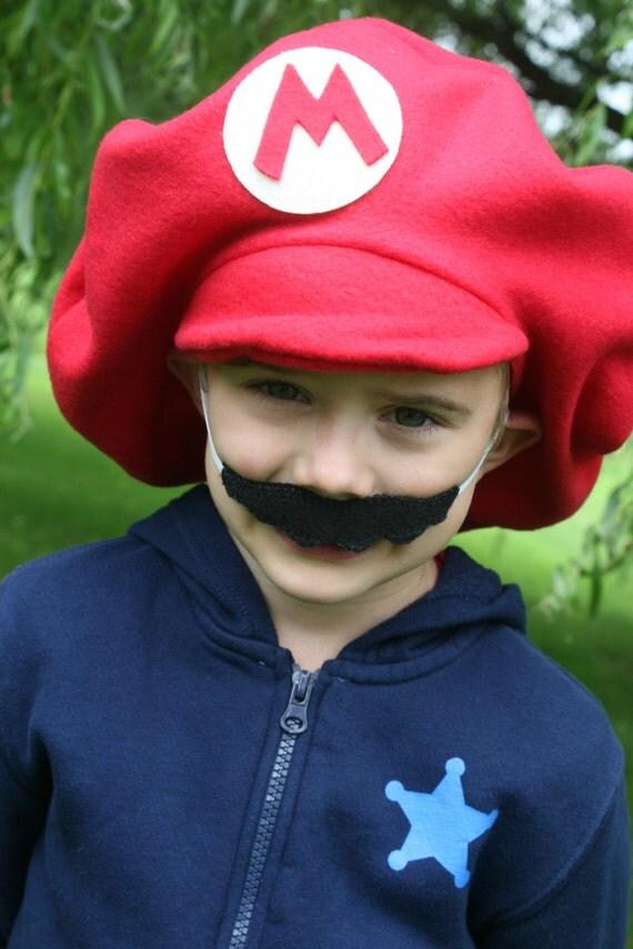 Super Mario Brothers-Child's Mario Hat & Felt Mustache