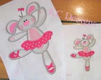 Bunny Ballerina Machine Applique Embroidery Design - Bunny Ballerina Applique Design - Ballerina Applique Design - Applique Bunny Ballerina