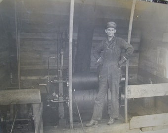 Early 1900's RPPC - Real Photo Postcard - Industrial Occupational Worker - Bridgeport OH