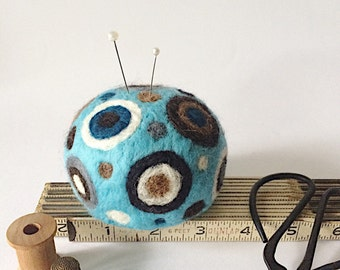 Felted pin cushion, needle felted wool pincushion, Mother's Day gift