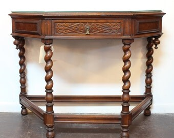Antique Jacobean Old English Sideboard Console