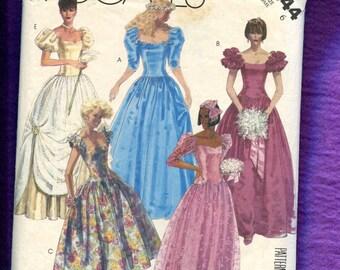 1986 McCalls 2344 Cinderella Ball Gown Size 6