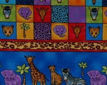 Jungle Babies border print fabric by Ro Gregg for Northcott design #2432 stripe fabric