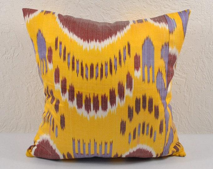 Sale! Ikat Pillow, Hand Woven Ikat Pillow Cover  a468-1aa2, Ikat throw pillows, Designer pillows, Decorative pillows, Accent pillows
