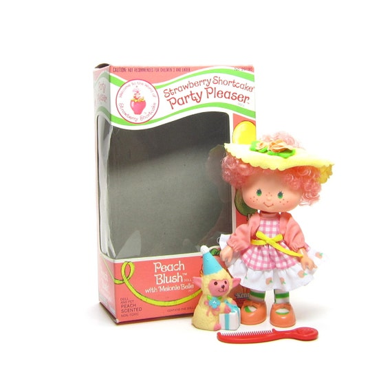 Peach Blush Doll Party Pleaser Vintage Strawberry Shortcake with ...