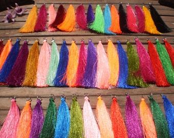 "Silky Yarn Tassels 5"" x 50 Tassels Assorted Silk Substitute Rayon"
