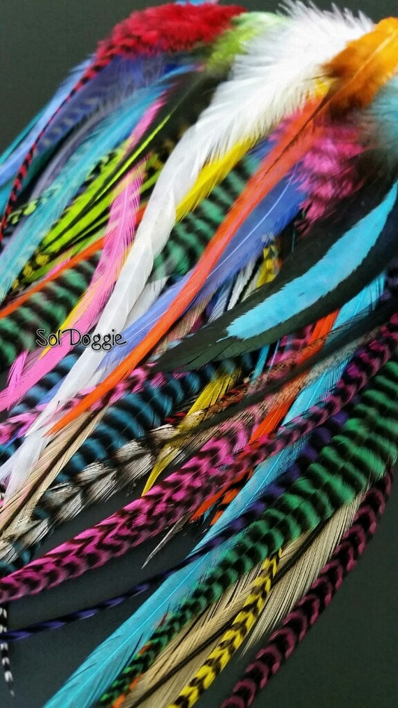 Mixed craft feathers diy craft supplies feather hair for Craft supplies online cheap