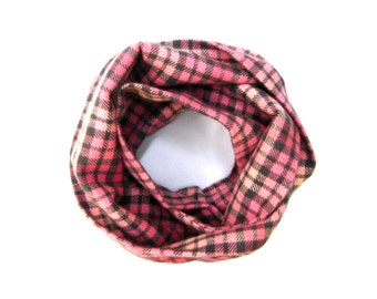 Plaid Scarf, Children Clothing, Toddler Scarf, Under 20 Dollars, Baby Scarf, Winter Scarf, Pink Scarf, Child Infinity Scarf, Ready to Ship